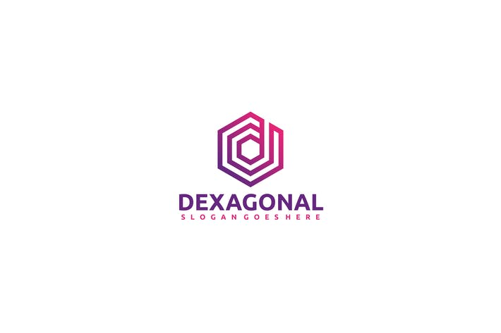 Thumbnail for D Hexagon -Letter Logo