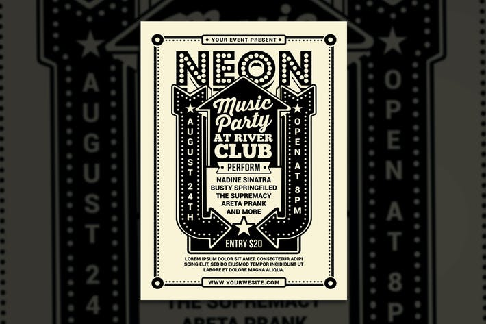 Thumbnail for Vintage Neon Music Party