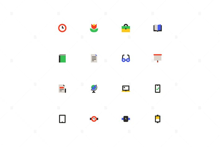 Thumbnail for Business and education - material design icons set