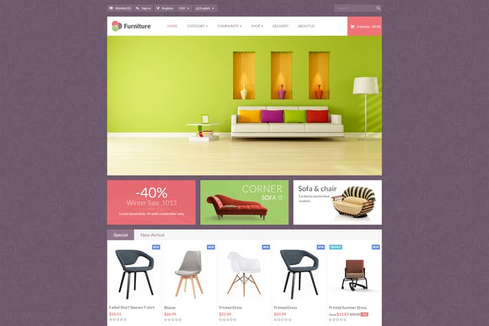 Thumbnail for Leo Furniture - Minimal Ecommerce Prestashop Theme
