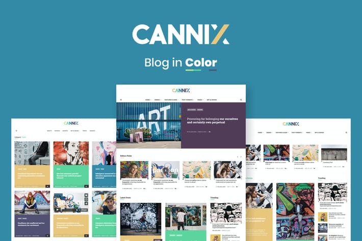 Thumbnail for Cannix - A Vibrant WordPress Blog Theme