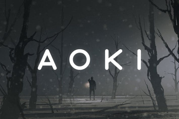Thumbnail for Aoki Typeface