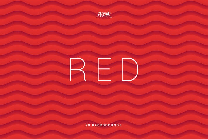 Thumbnail for Red | Soft Abstract Wavy Backgrounds