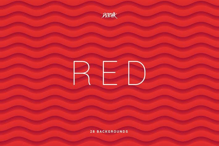 Thumbnail for Rojo | Fondos ondulados Resumen Suave