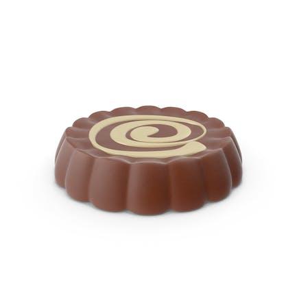Disk Schokolade mit Cheesecake Line Pop