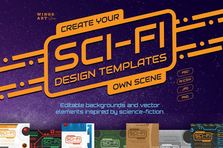Cover Image For Sci-Fi Icons and Templates