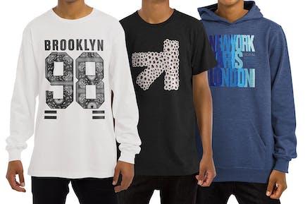T-Shirt Langarm Sweatshirt Hoodie Mockup