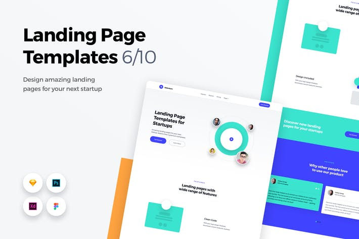 Thumbnail for Landing Page Templates - Web UI Kit - 6