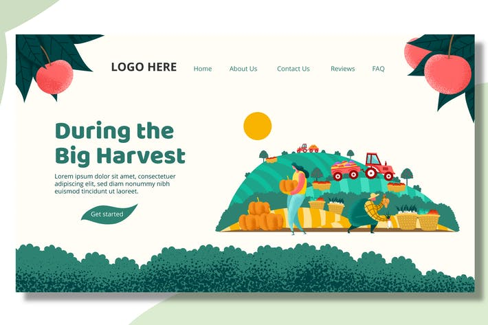 Thumbnail for Harvest Farmer - Landing Page