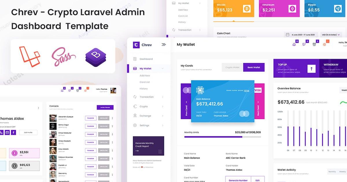 Download Chrev - Crypto Laravel Admin Dashboard & Bootstrap by DexignZone