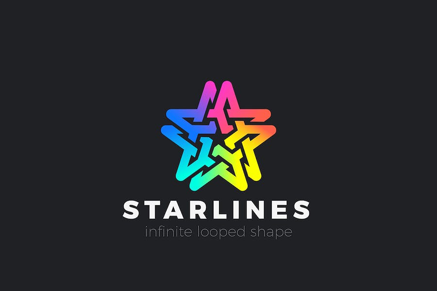 Star Colorful Logo abstract design