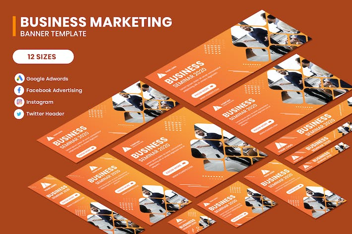 Thumbnail for Business Seminar Google Adwords Banner Template