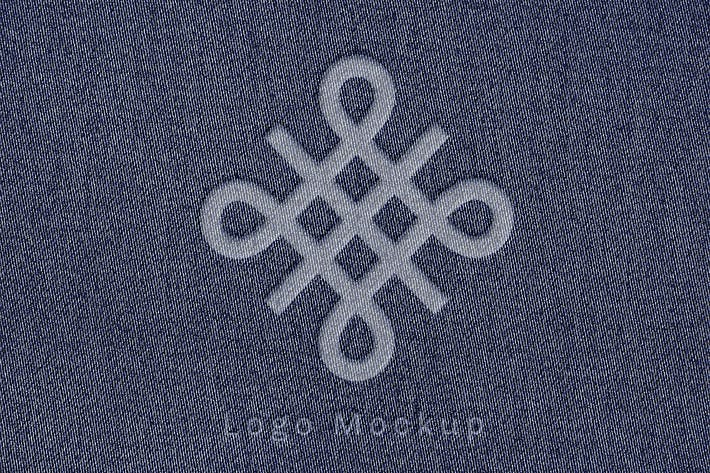 Thumbnail for Logo Effect Mockup on Denim Fabric