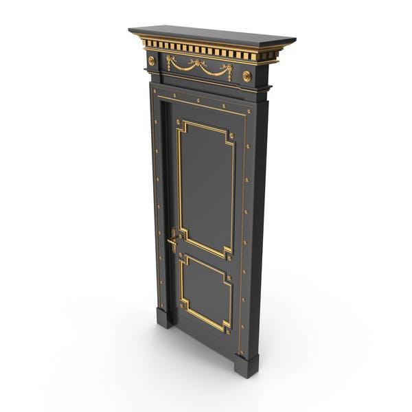 Luxus Tür Schwarz