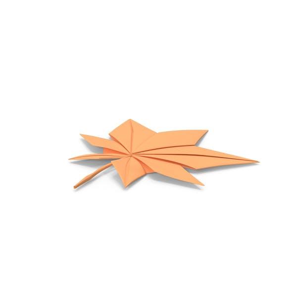 Thumbnail for Осенняя бумага оригами кленовый лист