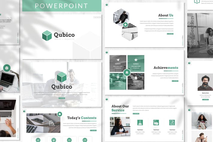 Thumbnail for Qubico - Business Powerpoint Template