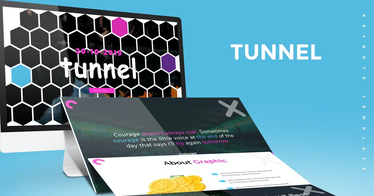 Download Tunnel - Keynote Template by aqrstudio