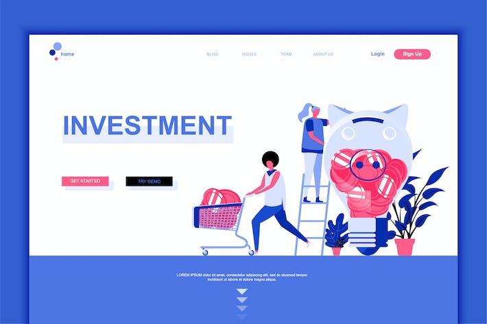 Thumbnail for Plantilla de Página de inicio plana de inversión Negocios