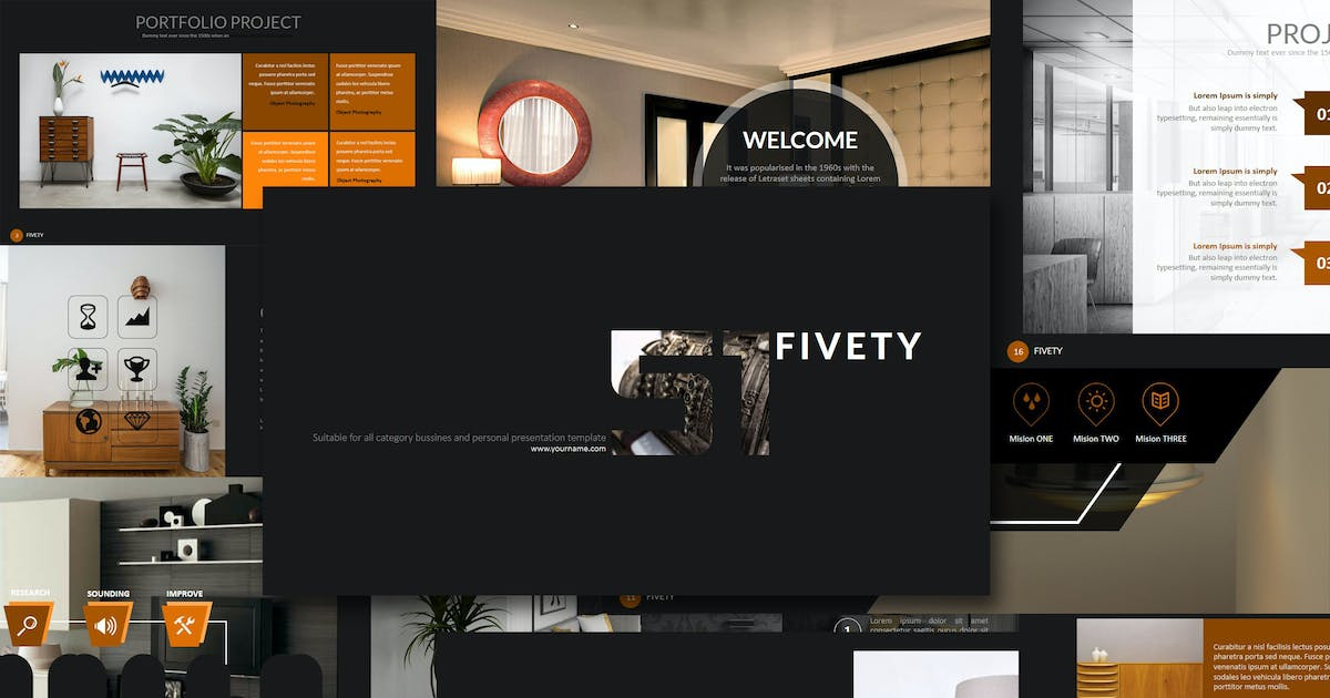 Download Fifty - Keynote Template by Artmonk