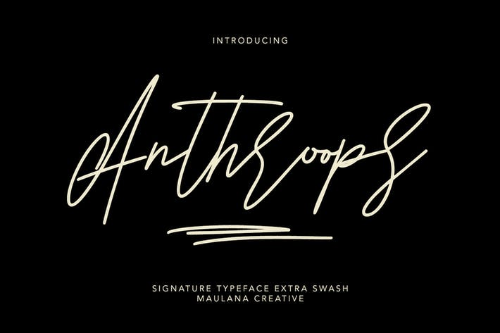 Thumbnail for Antroops Signature Typeface Extra Swash