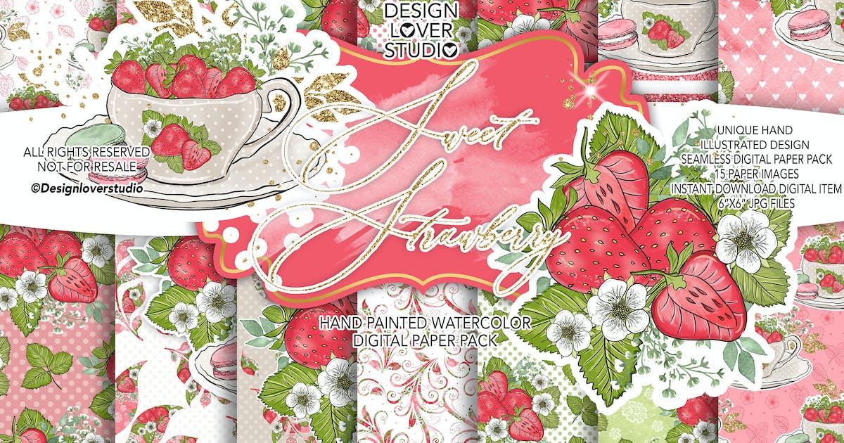 Download Sweet Strawberry digital paper pack by designloverstudio