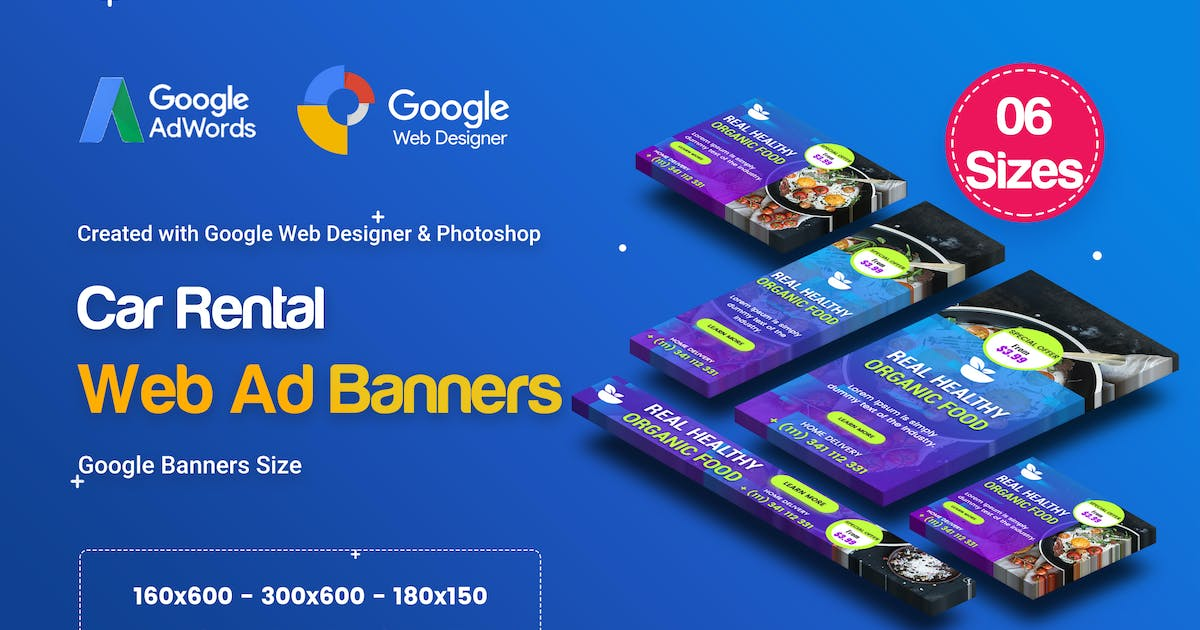 Download C46 - Organic, Fresh Food Banners GWD & PSD by iDoodle