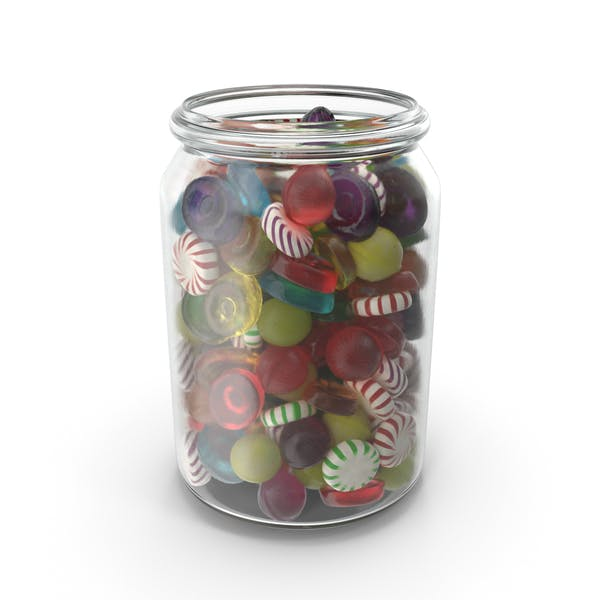 Jar with Mixed Hard Candy