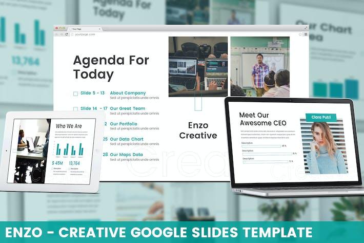 Thumbnail for Enzo - Creative Google Slides Template