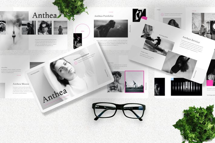 Thumbnail for Anthea - Инфлюенсер Powerpoint Шаблон