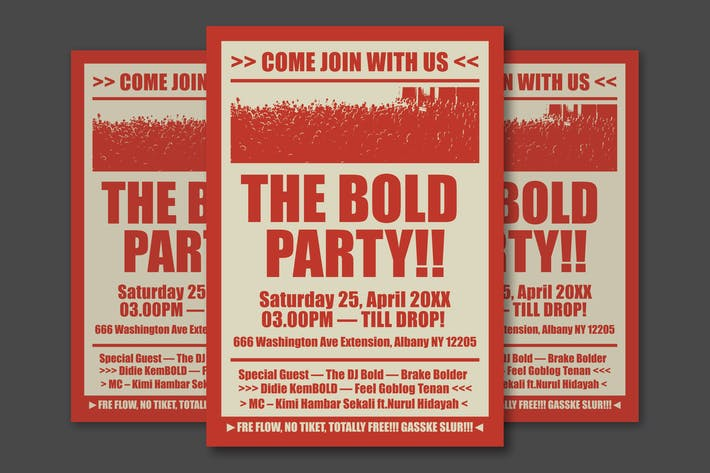 Thumbnail for The Bold Party Simple Poster