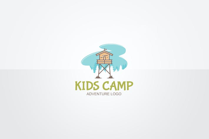 Thumbnail for Kids Camp Logo Template