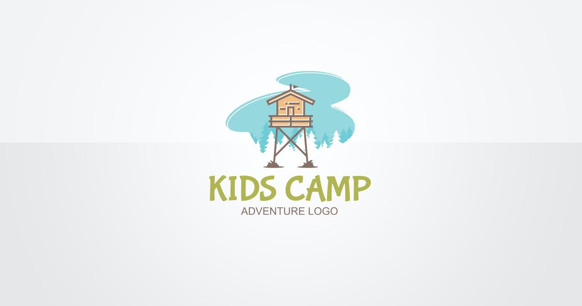 Kids Camp Logo Template by floringheorghe