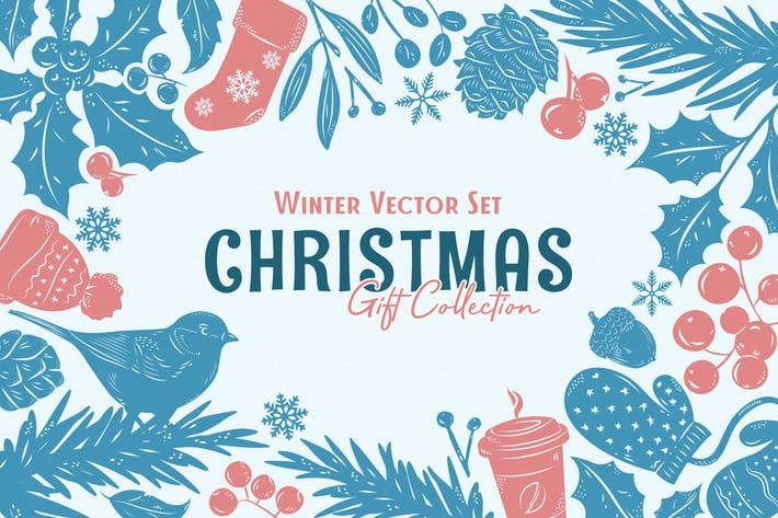 Thumbnail for Christmas Gift: Winter Vector Set