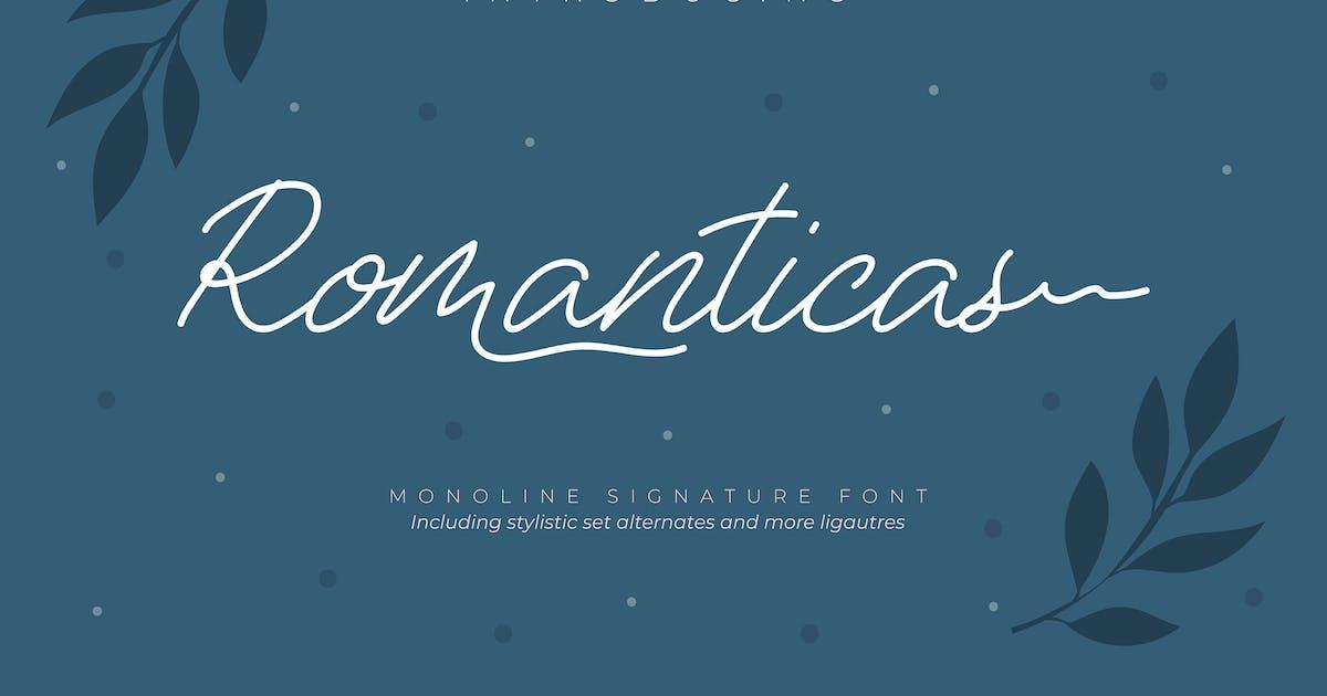 Download Romanticas | Monoline Signature Font by Vunira