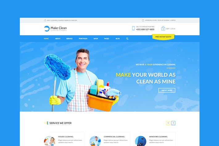 Thumbnail for Make Clean - Cleaning Company HTML Template