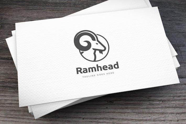 Thumbnail for Ram Head Logo Template