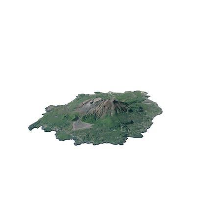 Sakurajima Volcano Island Map