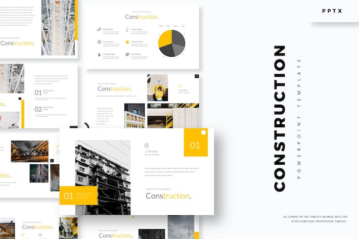 Building & Construction Powerpoint Template by aqrstudio on Envato