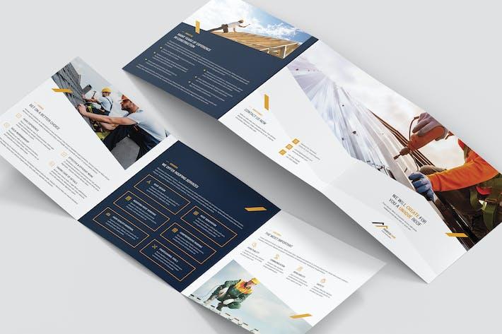 Thumbnail for Brochure – Roofer Tri-Fold Square