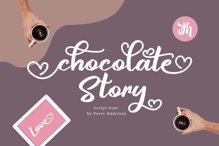 Thumbnail for Chocolate Story - Fuente de escritura