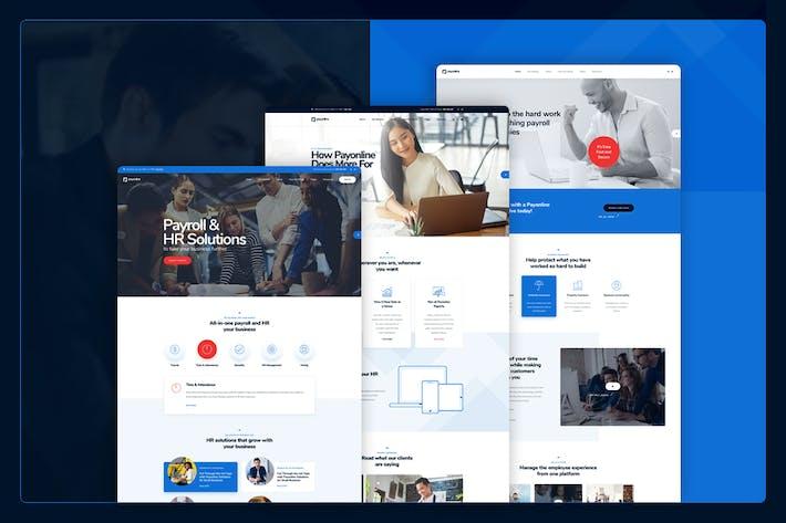 Payonline - Payroll & HR Software PSD Template