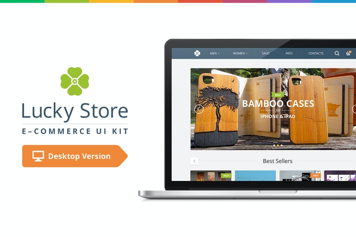 Thumbnail for Lucky Store UI Kit (Desktop)