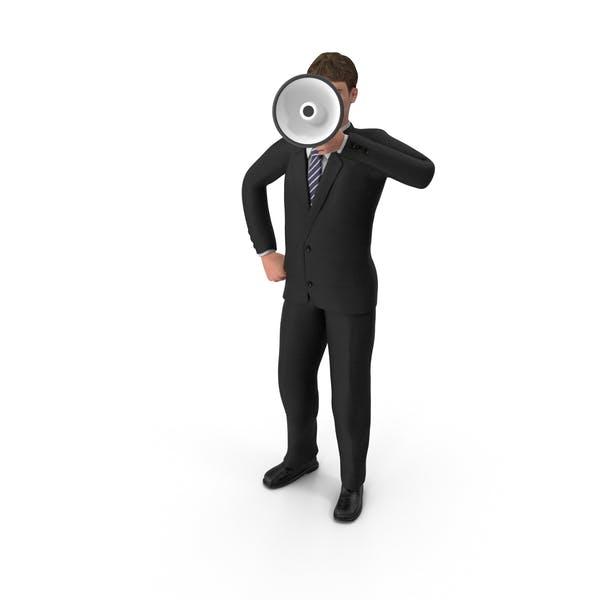 Thumbnail for Businessman John Holding Loud Speaker