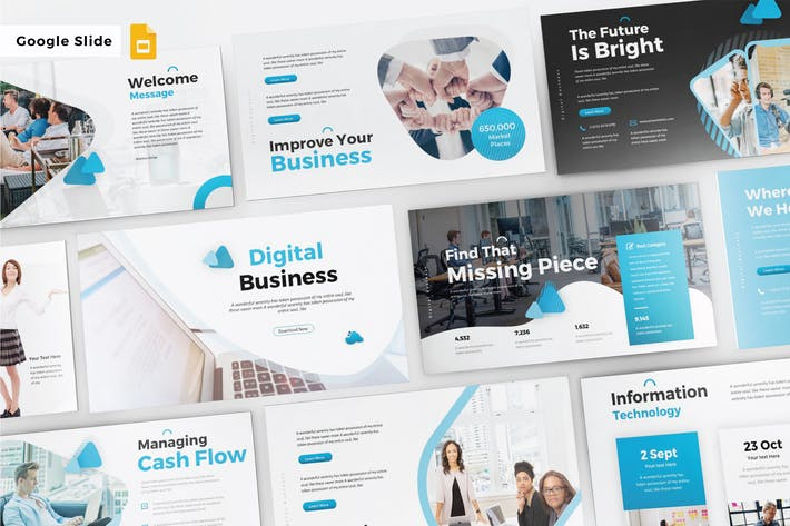 Cover Image For DIGITAL BUSINESS - Google Slide V291