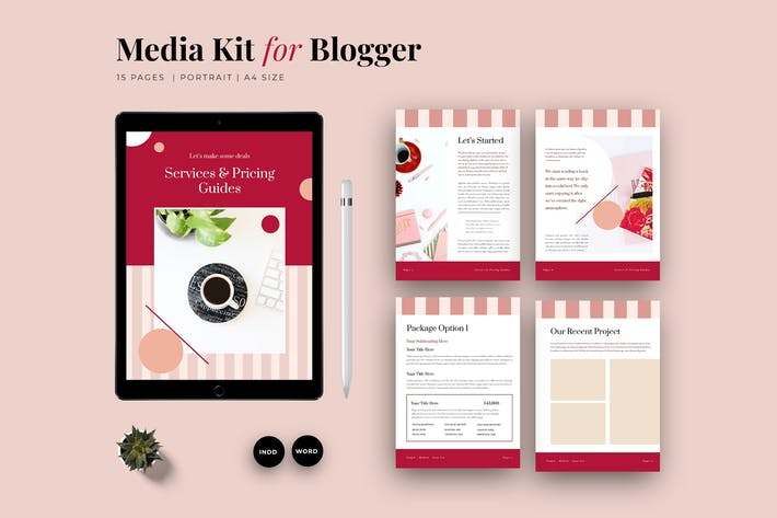 Thumbnail for Service & Pricing Guide Media Kit Template