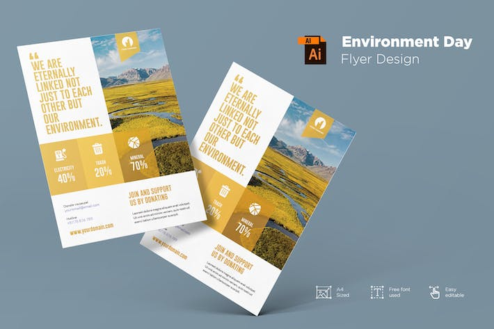 Thumbnail for Environment Day Flyer Design Template