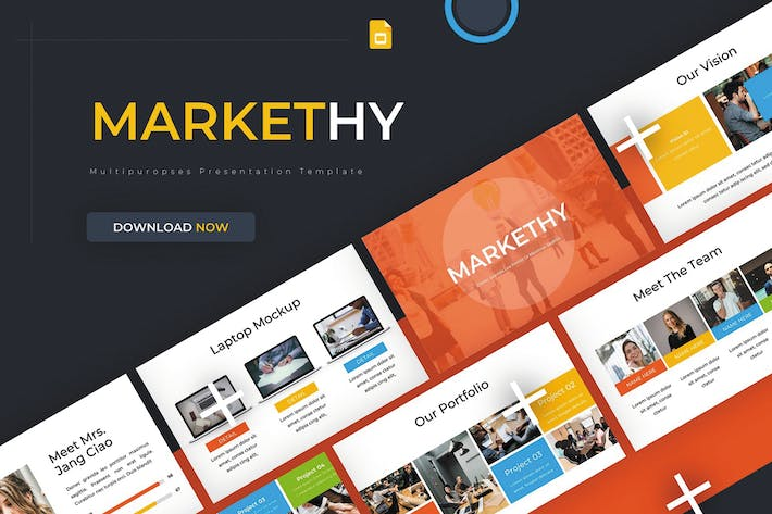 Thumbnail for Markethy - Google Slides Template