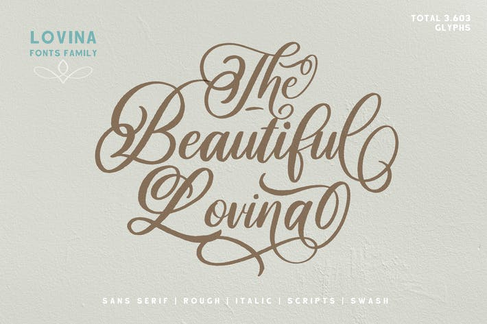 Thumbnail for Lovina Fonts Family