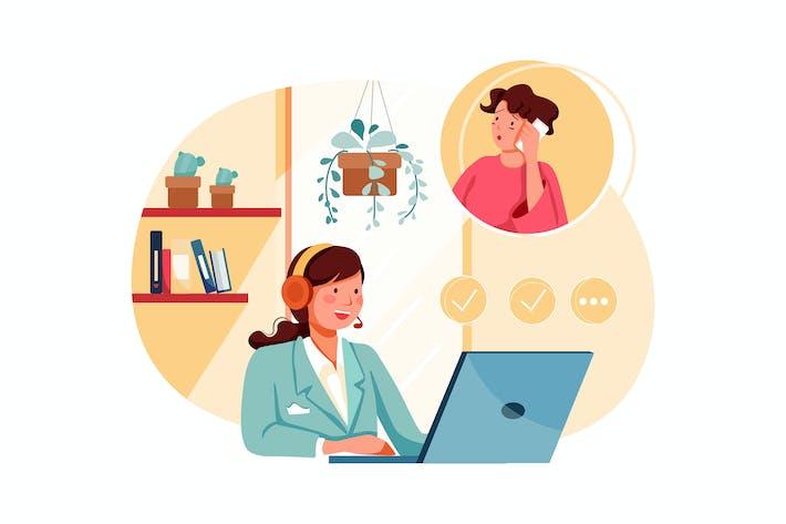 Thumbnail for Customer Support - E-commerce Illustration concept
