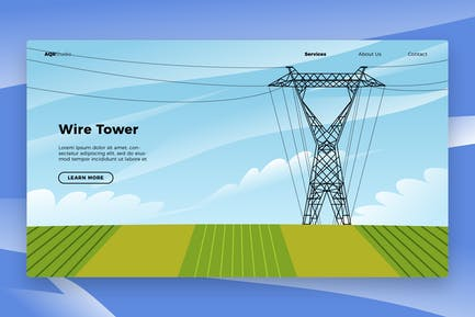 Wire Tower - Banner & Landing Page